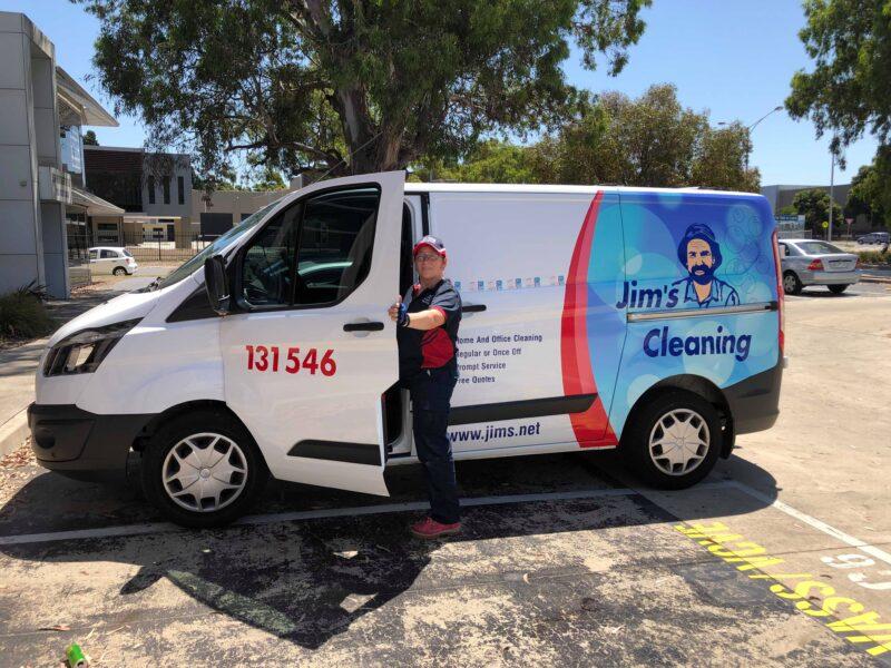 jims cleaning van
